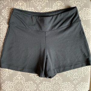 Euc Black Yoga Shorts, Size Medium.